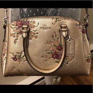 Coach Mini Sage Floral Carryall Handbag
